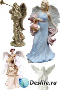 Ангелы куклы и статуэтки (прозрачный фон)