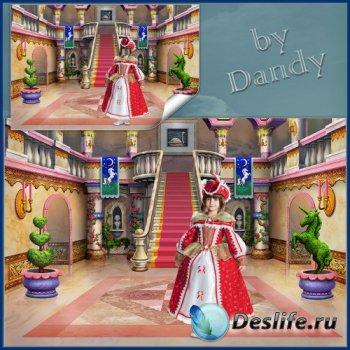 Костюм для фотошопа - Маленькая королева в замке