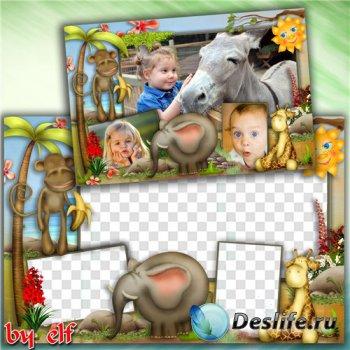 Детская рамка для фото - Мы в зоопарке