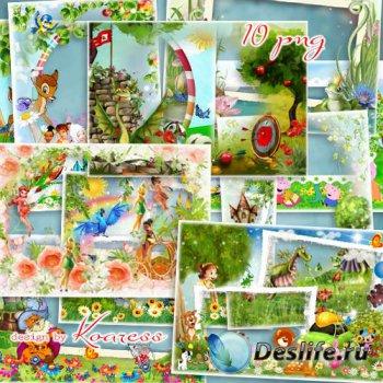 Рамки для фото с героями детских мультфильмов - Любимые сказки