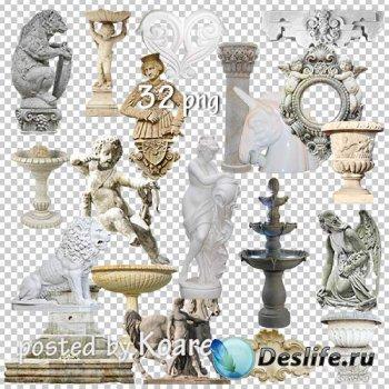 Png клипарт - Статуи, барельефы, колонны, фонтаны и другие элементы архитек ...