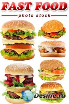 Фастфуд Фотосток: Гамбургер, чизбургер (прозрачный фон)