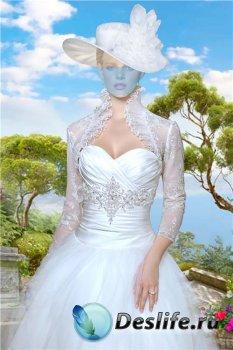 Женский костюм для фотошопа – В белом нарядном платье