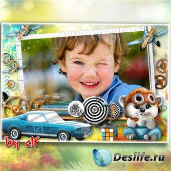 Детская фоторамка для мальчика - Мальчишеские увлечения