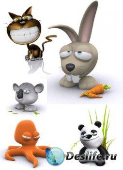 3D мультяшные звери (подборка)