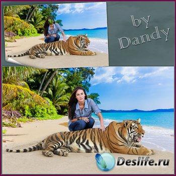Костюм для девушки - На берегу моря с тигром