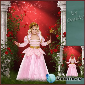 Костюм для девочки - Маленькая фея среди роз