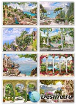 Фоны – Архитектура и морские пейзажи