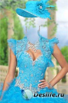 Женский фотошоп костюм – Нарядное платье с драгоценностями