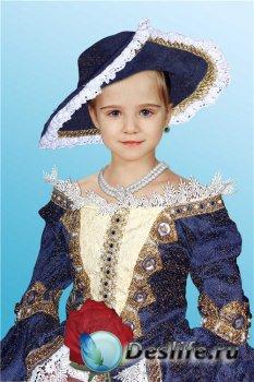 Фотошоп костюм для девочек – В бальном платье и шляпе