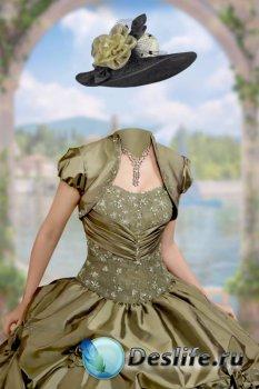 Костюм женский для фотошопа – В бальном платье у арки