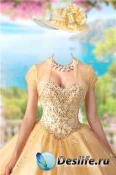 Костюм для фотошопа женский – В золотом платье