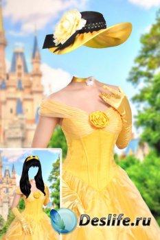 Костюм для фотошопа женский – Принцесса Бель