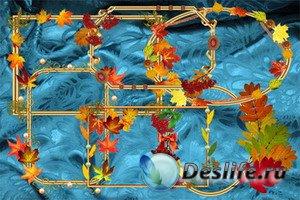 Клипарт Вырезы с осенними листьями