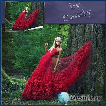 Костюм для девушки - Блондинка в красном платье