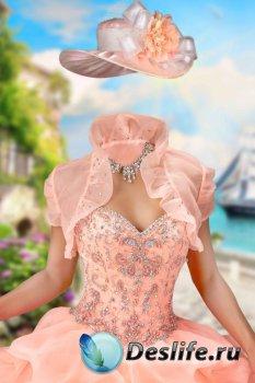 Костюм женский для фотошопа – Бальное платье с балеро