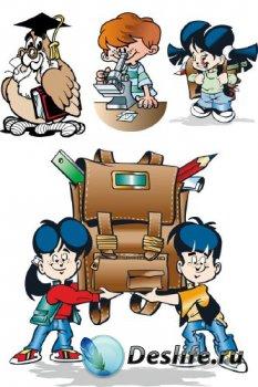 Школа, обучение, университет (вектор)