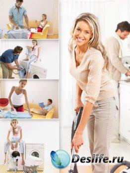 Уборка дома и квартиры (подборка изображений)