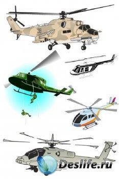 Авиация: Вертолет (подборка векторных отрисовок)