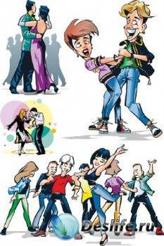 Танцоры и танцы (вектор)