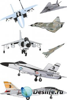 Военные самолеты (подборка авиации в векторе)