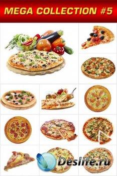 Мега коллекция №5: Пицца, кусочек пиццы (прозрачный фон)