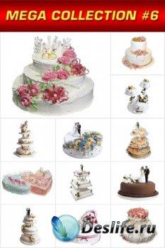 Мега коллекция №6: Свадебный торт (прозрачный фон)