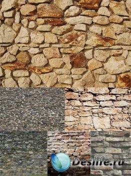 Текстуры: камень, дикий камень, старая кирпичная кладка