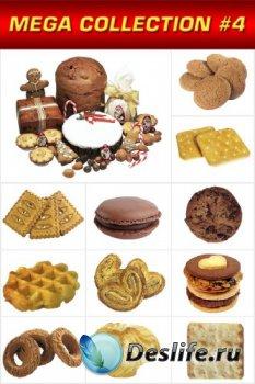 Мега коллекция №4: Печенье, крекеры (прозрачный фон)