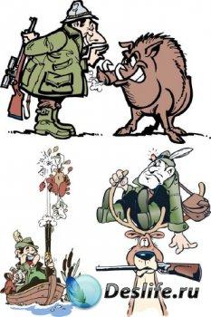 Охота и охотники (векторная подборка)
