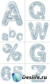 Алфавит (буквы на прозрачном фоне) №3