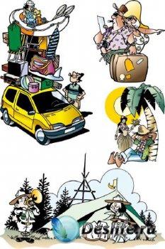 Туризм, отдых, пикник (вектор)