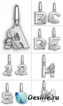 Алфавит (буквы на прозрачном фоне) №4