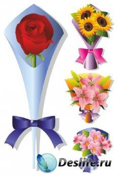 Букет (векторная подборка цветов)