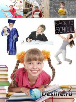 Школа, обучение, школьники (подборка клипарта)