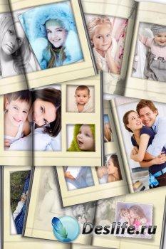 Фотокнига для фотошопа - Воспоминания