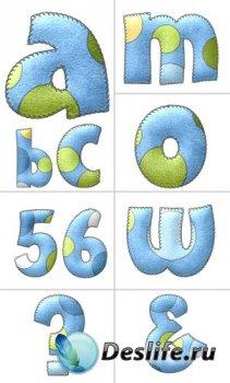 Алфавит (буквы на прозрачном фоне) №6