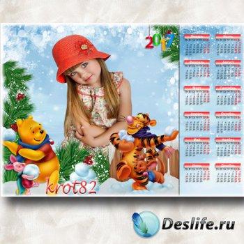 Детский календарь на 2017 год – Поиграем в снежки