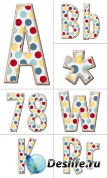 Алфавит (буквы на прозрачном фоне) №8