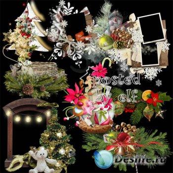 Новогодние, рождественские клипарты, кластеры, вырезы png – Незабываемый пр ...