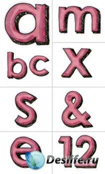 Алфавит (буквы на прозрачном фоне) №10