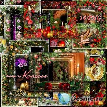 Сборник праздничных новогодних png рамок для фото - Пусть праздник этот буд ...