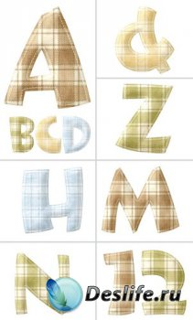 Алфавит (буквы на прозрачном фоне) №11