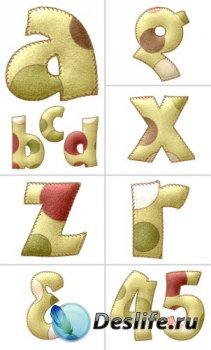 Алфавит (буквы на прозрачном фоне) №12