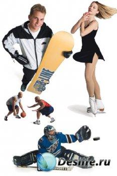 Спорт (белый фон) подборка изображений