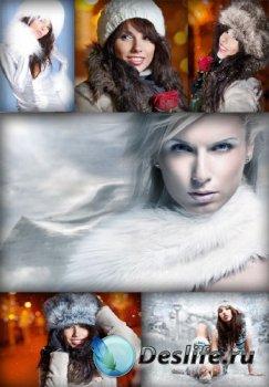 Девушка в зимней одежде (подборка изображений)