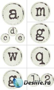 Алфавит (буквы на прозрачном фоне) №16