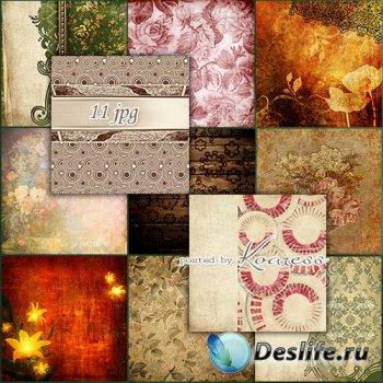 Подборка винтажных фонов для фотошопа