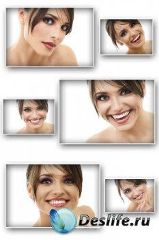 Девушка улыбается (подборка изображений)