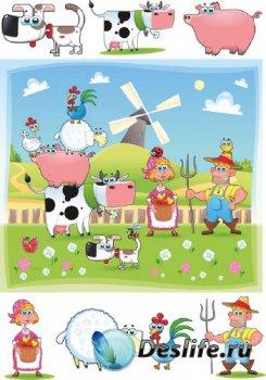 Веселая ферма (подборка векторных отрисовок)